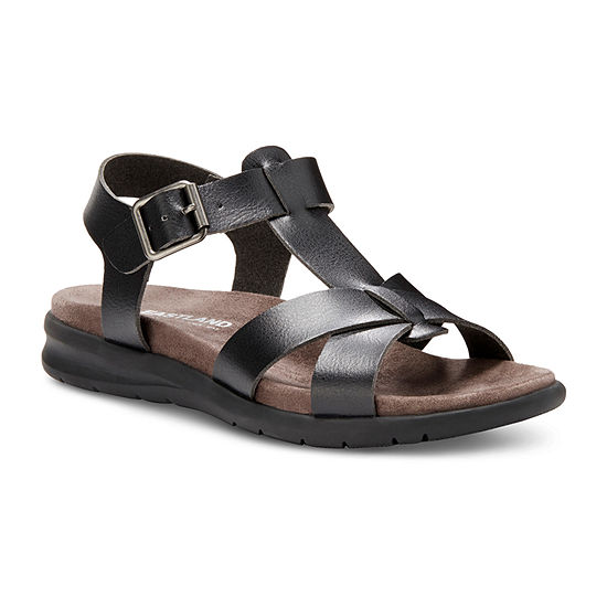 Eastland Womens Casey Adjustable Strap Flat Sandals
