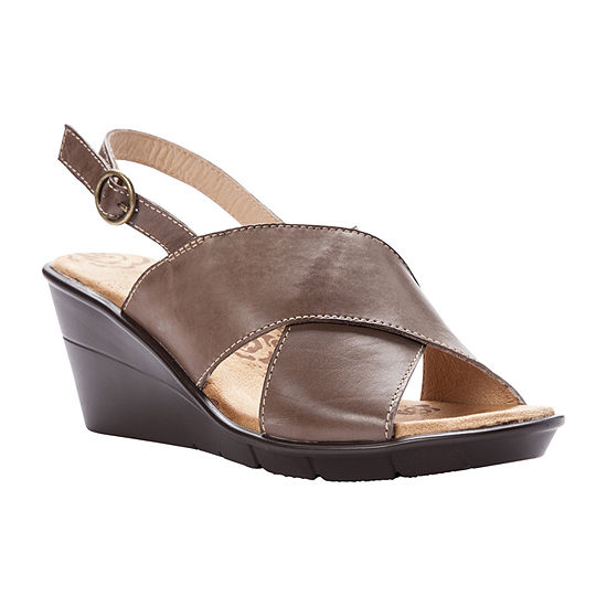 Propet Womens Luna Wedge Sandals