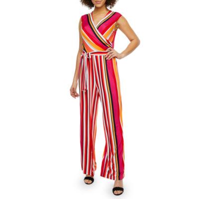 Soho Sleeveless Belted Jumpsuit