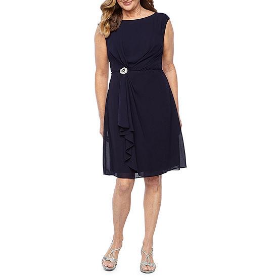 Jessica Howard Short Sleeve Sheath Dress-Petite