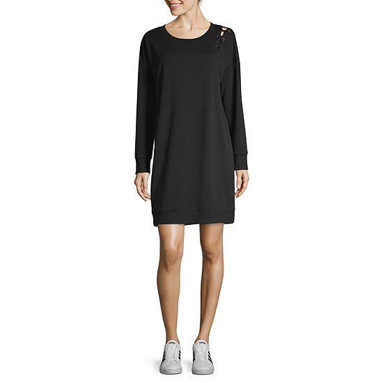 Xersion Lace Up Sweatshirt Dress - Tall