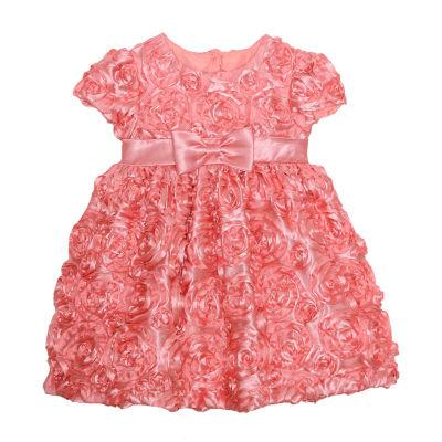 Marmellata Short Sleeve Floral A-Line Dress - Baby Girls