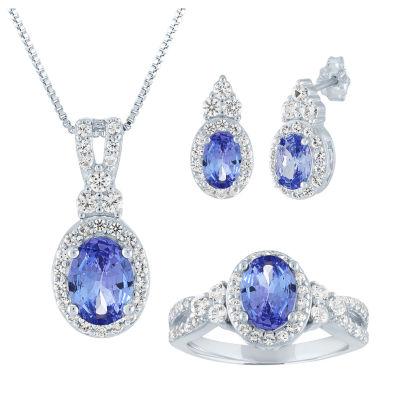 Simulated Blue Tanzanite 3-pc. Jewelry Set