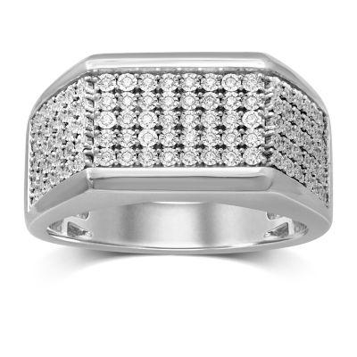 Mens 1/4 CT. T.W. Genuine Diamond Fashion Ring
