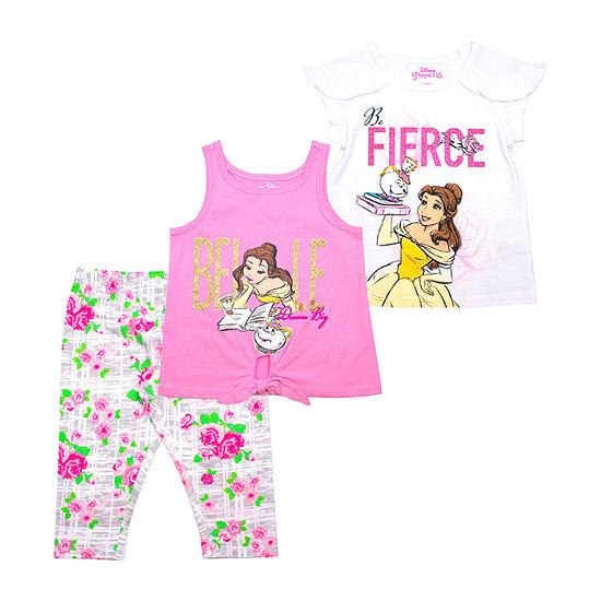 Disney Princess 3-pc. Disney Princess Legging Set-Toddler Girls