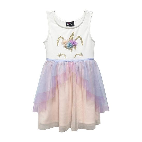 Lilt Birthday Girls Sleeveless Tutu Dress - Toddler
