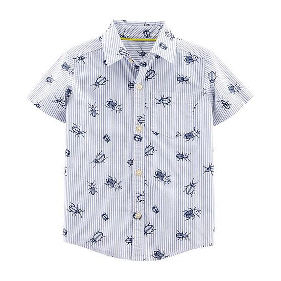 Carter's Boys Short Sleeve Button-Front Shirt Baby