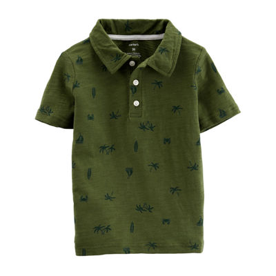 Carter's Boys Spread Collar Short Sleeve Polo Shirt - Baby