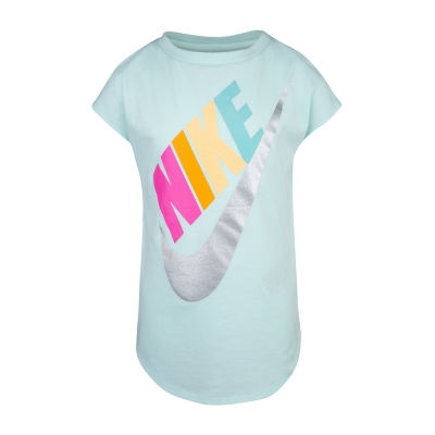 Nike Girls Round Neck Short Sleeve Graphic T-Shirt Preschool