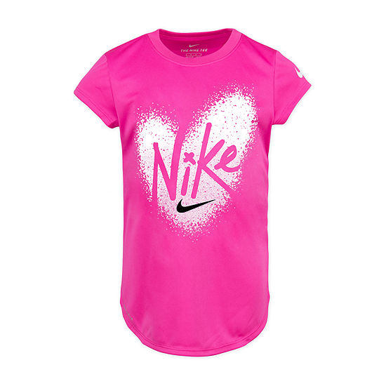 Nike Girls Round Neck Short Sleeve Graphic T-Shirt