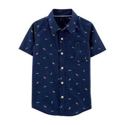 Carter's Boys Short Sleeve Button-Front Shirt Preschool / Big Kid