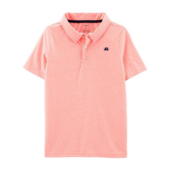 e243a658 Carter's Boys Spread Collar Short Sleeve Polo Shirt Preschool / Big Kid -  JCPenney
