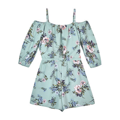by&by girl 3/4 Sleeve Romper Girls
