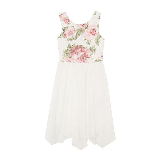 by&by girl Girls Sleeveless Floral A-Line Dress - Big Kid