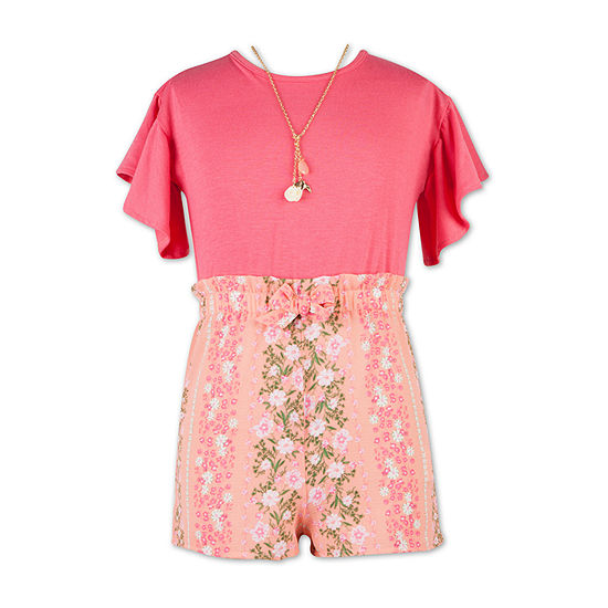 Speechless Short Sleeve Romper Preschool / Big Kid Girls