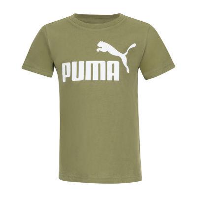 Puma Round Neck Short Sleeve Graphic T-Shirt Preschool / Big Kid Boys