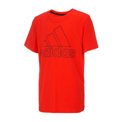 adidas Boys Round Neck Short Sleeve Graphic T-Shirt Preschool / Big Kid