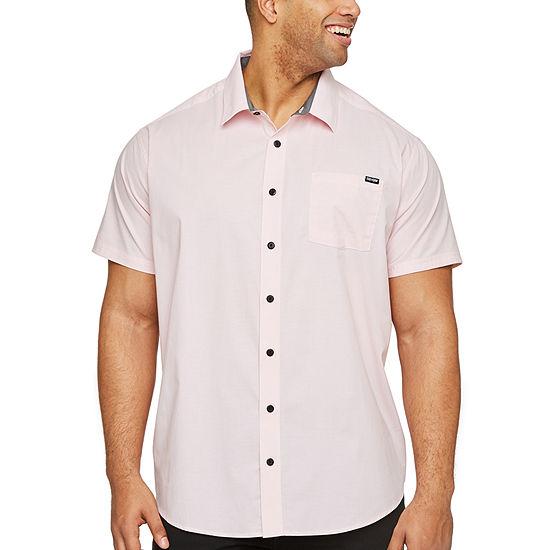 Zoo York Big and Tall Mens Short Sleeve Button-Down Shirt