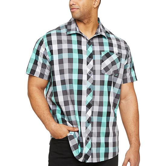 Zoo York Big and Tall Mens Short Sleeve Plaid Button-Down Shirt