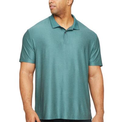Claiborne Mens Short Sleeve Polo Shirt Big and Tall