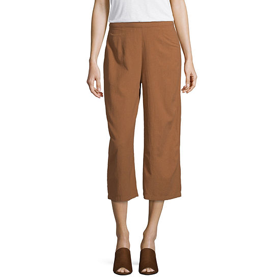 Unionbay-Juniors Womens Low Rise Wide Leg Pull-On Pants