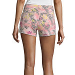 "Arizona Womens Low Rise 2 1/2"" Denim Short-Juniors"