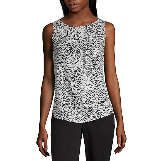 b44e1eba030ff Worthington Womens Round Neck Sleeveless Blouse - JCPenney