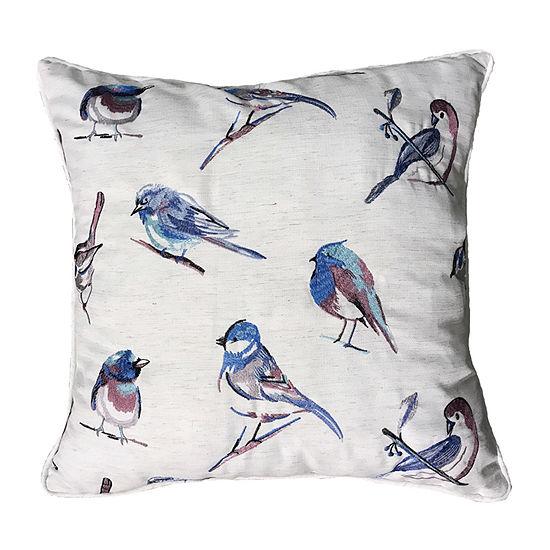 Home Fashions International Bird Song Square Throw Pillow
