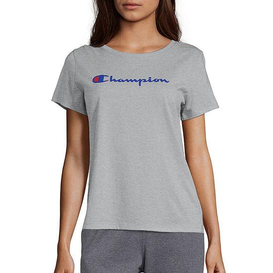 Champion Womens Crew Neck Short Sleeve T Shirt