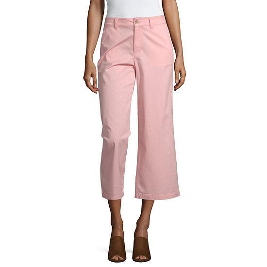 a.n.a Womens Wide Leg Chino Crop