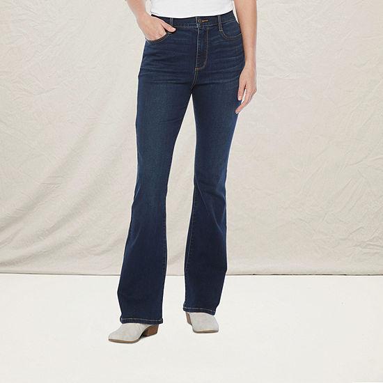 a.n.a Womens High Rise Flare Jean - Tall