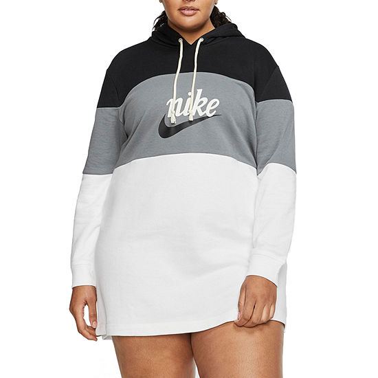 Nike Long Sleeve Logo T-Shirt Dresses Plus