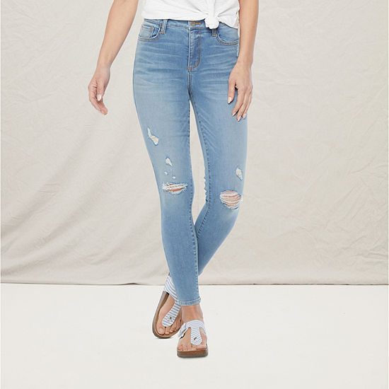 a.n.a Womens High Rise Ripped Jegging