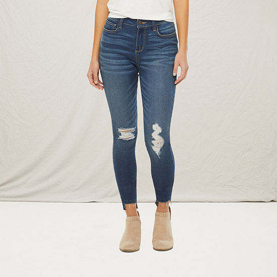 a.n.a-Tall Womens High Rise Ripped Jegging
