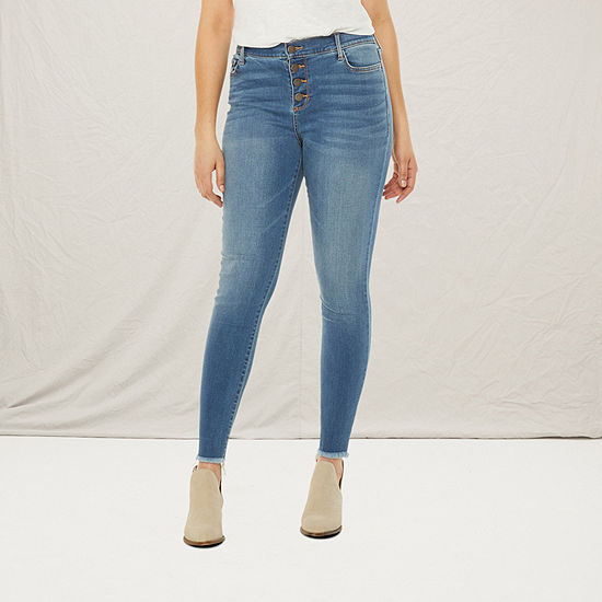 a.n.a-Tall Womens High Rise Button Fly Jegging