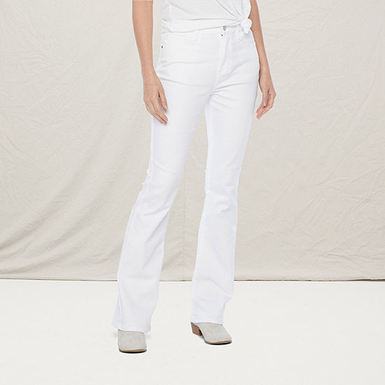 a.n.a Womens High Rise Flare Jean