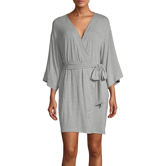 Ambrielle Womens Kimono Robes 3/4 Sleeve Mid Length