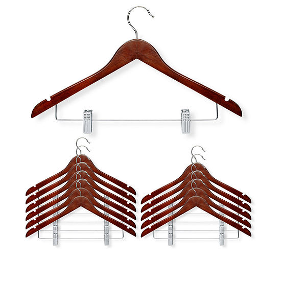 Honey-Can-Do 12-pc. Wood Hangers