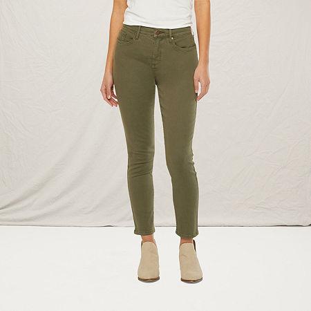 a.n.a Womens High Rise Skinny Ankle Jean, 12 , Green