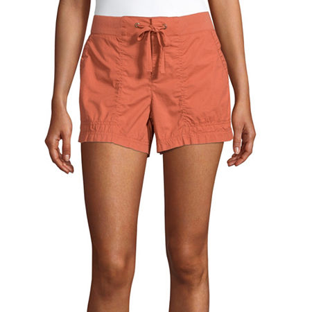 a.n.a Womens Mid Rise Pull-On Short, 4 , Pink