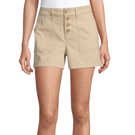 "a.n.a Womens High Rise 3.5"" Utility Short, 2 , Yellow"