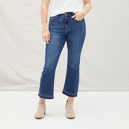 a.n.a Womens Cropped Flare Jean, 4 , Blue