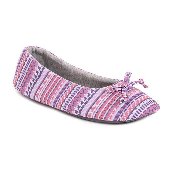 Muk Luks Jolee Jersey Womens Ballerina Slippers