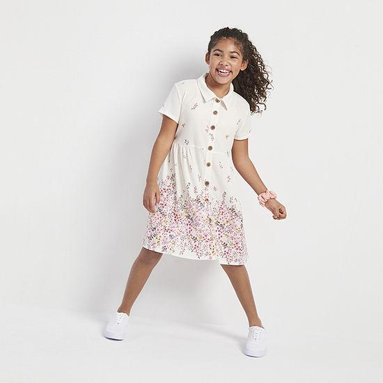 Knit Works Girls Short Sleeve Shirt Dress
