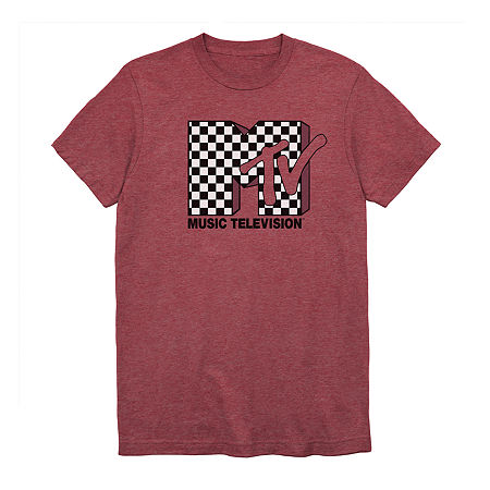 MTV Mens Crew Neck Short Sleeve Graphic T-Shirt, Small , Red