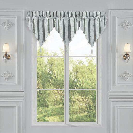 Queen Street Rivas Window Ascot Valance Rod-Pocket Ascot Valance
