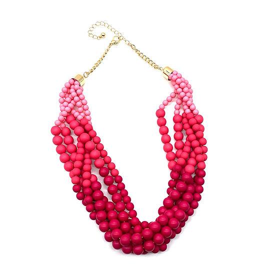 Bijoux Bar Pink Bead Beaded Necklace