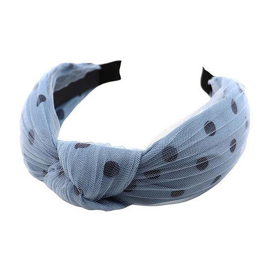 Mixit Blue Tulle Polka Dot Headband