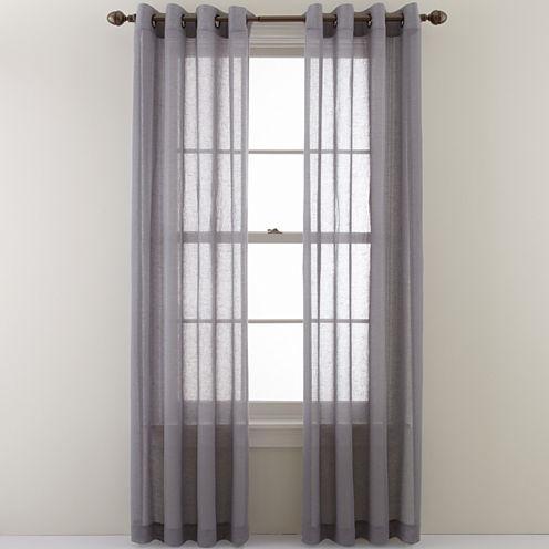 Studio™ Cotton Linen Grommet-Top Sheer Panel
