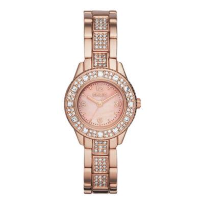 Relic® Sophia Womens Crystal-Accent Rose-Tone Bracelet Sport Watch ZR34313